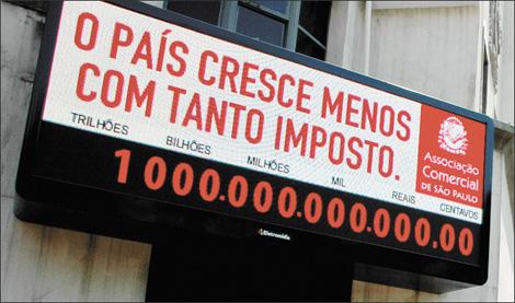 Resultado de imagem para impostometro 1 trilhão